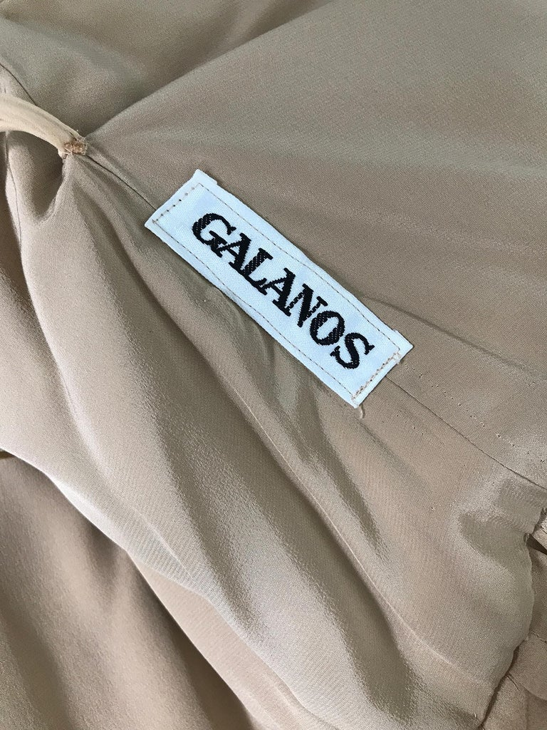 James Galanos Champagne Gold Silk Satin Evening Gown For Sale 6