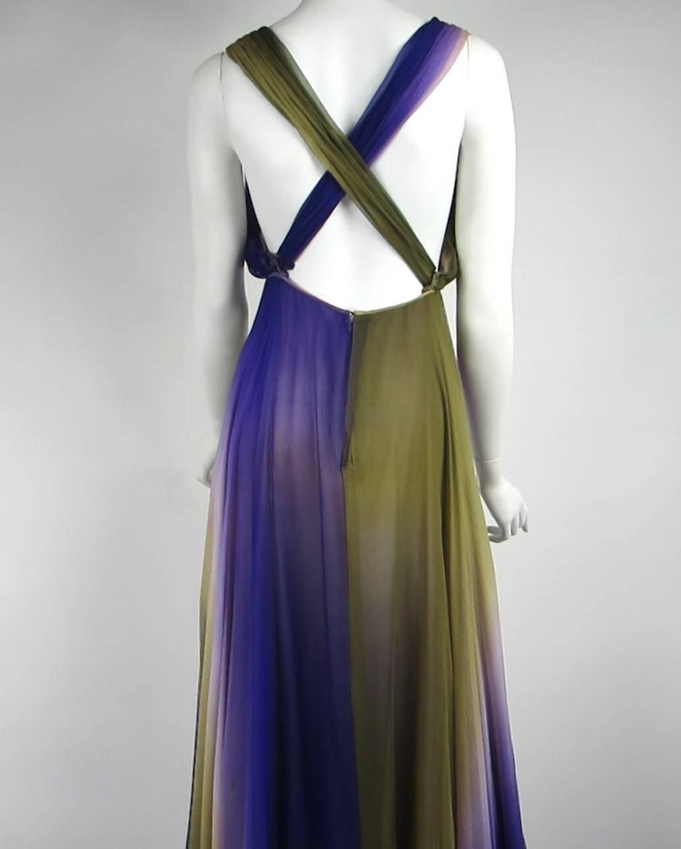 James Galanos Watercolor Chiffon Goddess gown 1970s  For Sale 2