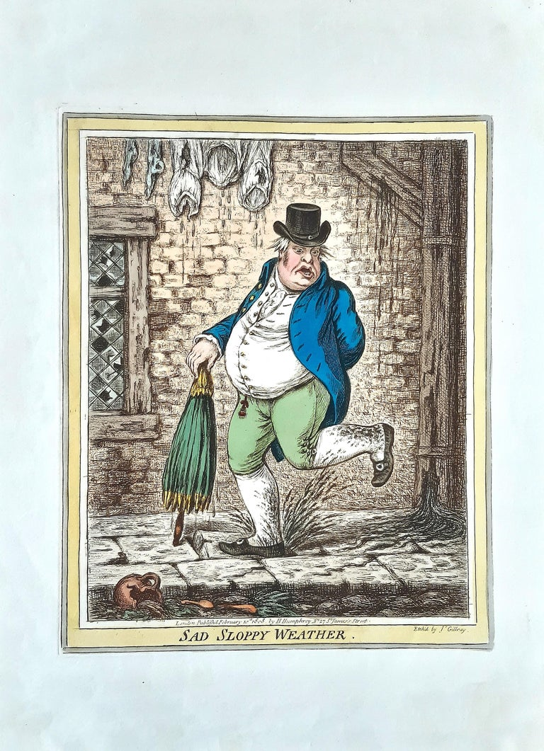 Delicious Weather - Complete Series of 5 Hand-colored Etchings - 1808 - Print by James Gillray