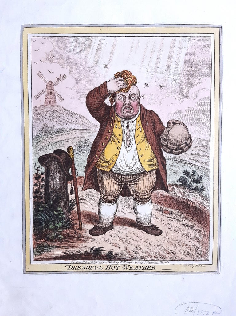 Delicious Weather - Complete Series of 5 Hand-colored Etchings - 1808 1