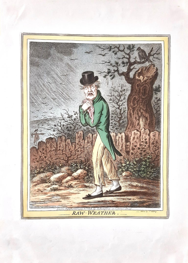 Delicious Weather - Complete Series of 5 Hand-colored Etchings - 1808 3