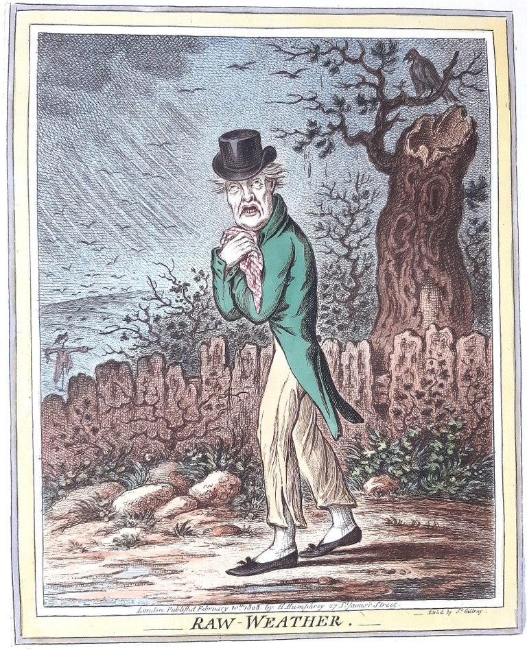 Delicious Weather - Complete Series of 5 Hand-colored Etchings - 1808 4