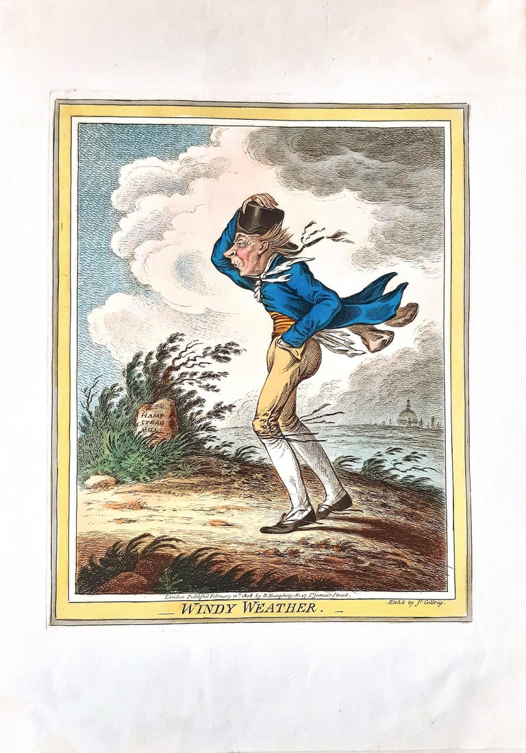 Delicious Weather - Complete Series of 5 Hand-colored Etchings - 1808 5