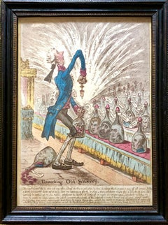 James Gillray - 'Uncorking Old Sherry' 1805
