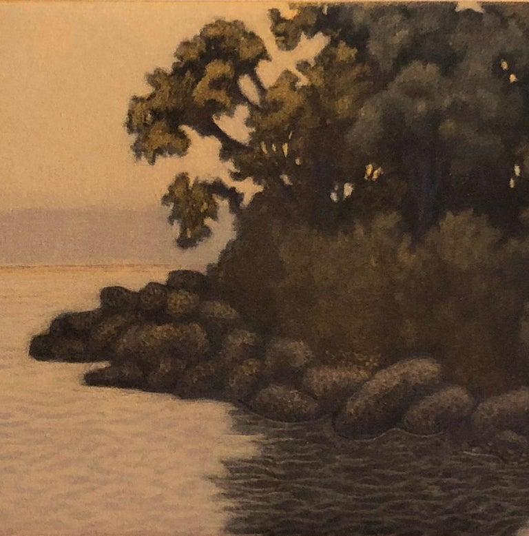 Gray Evening Sorrento - Brown Landscape Print by James Groleau