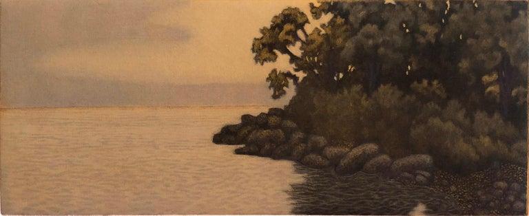 James Groleau Landscape Print - Gray Evening Sorrento