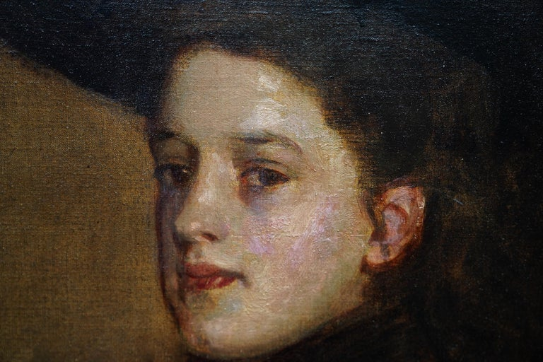 Portrait of Mary Martin in Riding Habit -Scottish 19thC Glasgow Boy oil painting For Sale 2