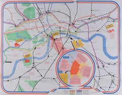 James Hart Festival of Britain 1951 London map poster UK Mid Century art print