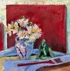 Still Life with Daffodils, Oil Painting