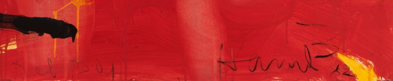 Red Dog - Abstract Mixed Media Art by James Havard