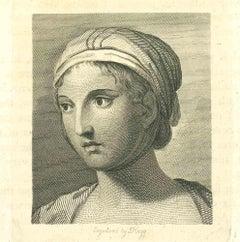 Portrait - Original Etching by James Hogg - 1810
