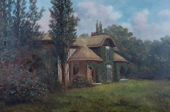 James Isaiah Lewis (1860-1934)-Early 20th Century Oil, Cottage Garden In Summer