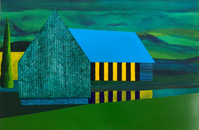 James Isherwood was born in Fall River, Massachusetts and lives and works in New York City. The artist continues his exploration of architecture as the foundation for composition in his new series. Isherwood begins with the concept of a house,