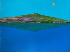 Distant Tropic, bright blue island landscape