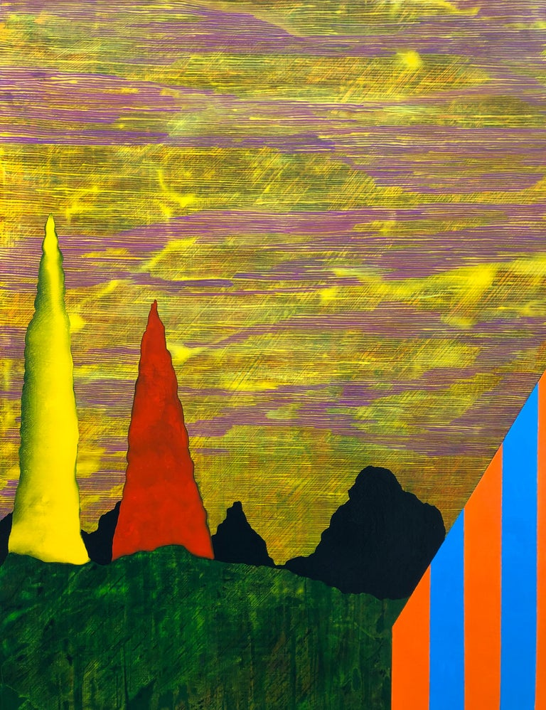 Gathering Sky - Contemporary Painting by James Isherwood