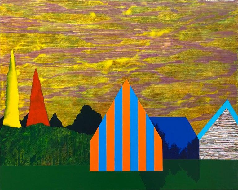 James Isherwood Landscape Painting - Gathering Sky