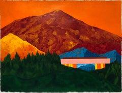 Ridge. Acrylic on paper, 22.5 x 30.25 in. Mountainous Landscape