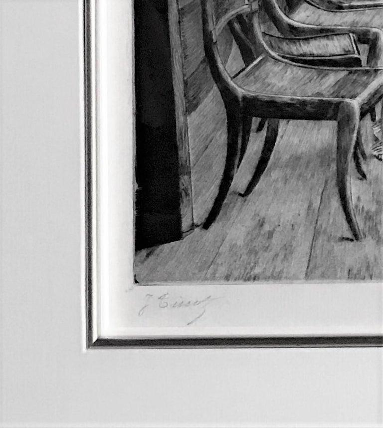 La Galerie du 'Calcutta' (Souvenir d'en Bal à Bord).  - Gray Portrait Print by James Jacques Joseph Tissot