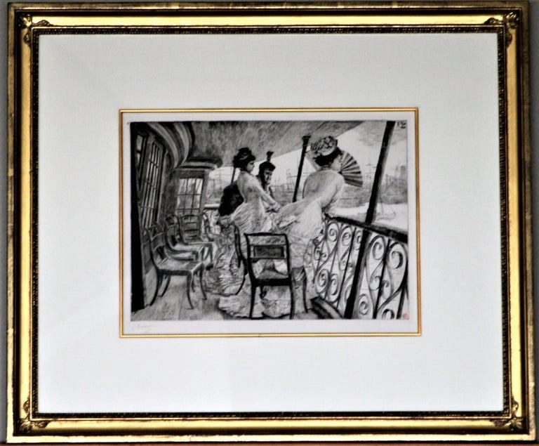 James Jacques Joseph Tissot Portrait Print - La Galerie du 'Calcutta' (Souvenir d'en Bal à Bord).