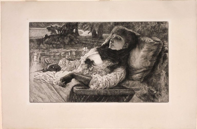 Soirée d'été (Summer Evening) - Print by James Jacques Joseph Tissot