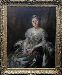 Portrait of Lady Ruthven - Edwardian Society British American art oil painting