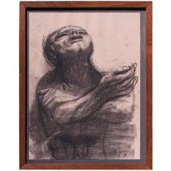 "James Joseph Kearns ""Despondent Man"" Etching"
