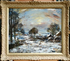 Winter - The Clyde of Greenock - 19th Century Oil, Snowy Landscape by James Kay