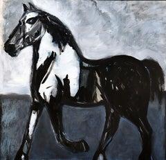Horse in Blue Field