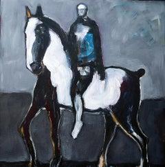 Horse in Grey Field Vl