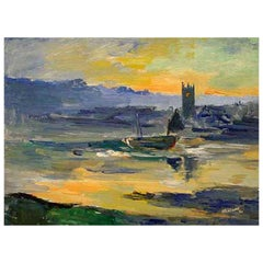 James Lawrence Isherwood, St Ives, Oil on Board, circa 1960