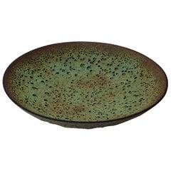 James Lovera Crater Glaze Ceramic Footed Bowl