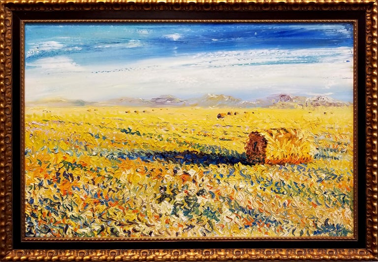 James M. Bullock Landscape Painting - A Roll In the Hay