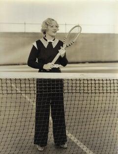 Marion Davies playing tennis