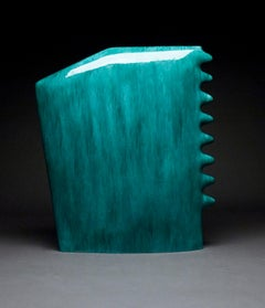 """Blue 270"", Contemporary, Ceramic, Minimalist, Abstract, Sculpture, Glaze"