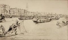 A  Regatta on the Grand Canal [Venice]