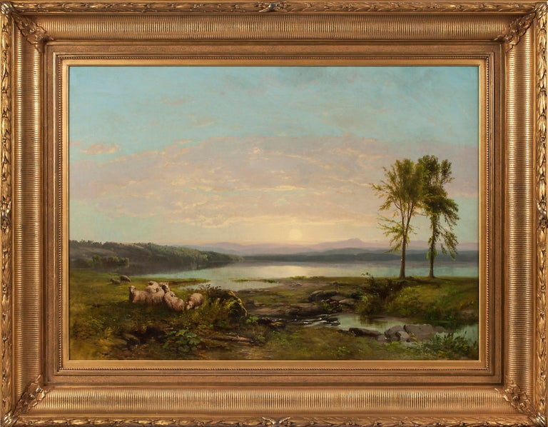 View of Lake Champlain, c. 1857 by James McDougal Hart (1828–1901, American) For Sale 1