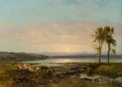 View of Lake Champlain, c. 1857 by James McDougal Hart (1828–1901, American)