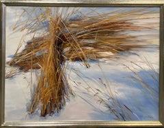 Grain in Snow II, original 30x40 contemporary landscape