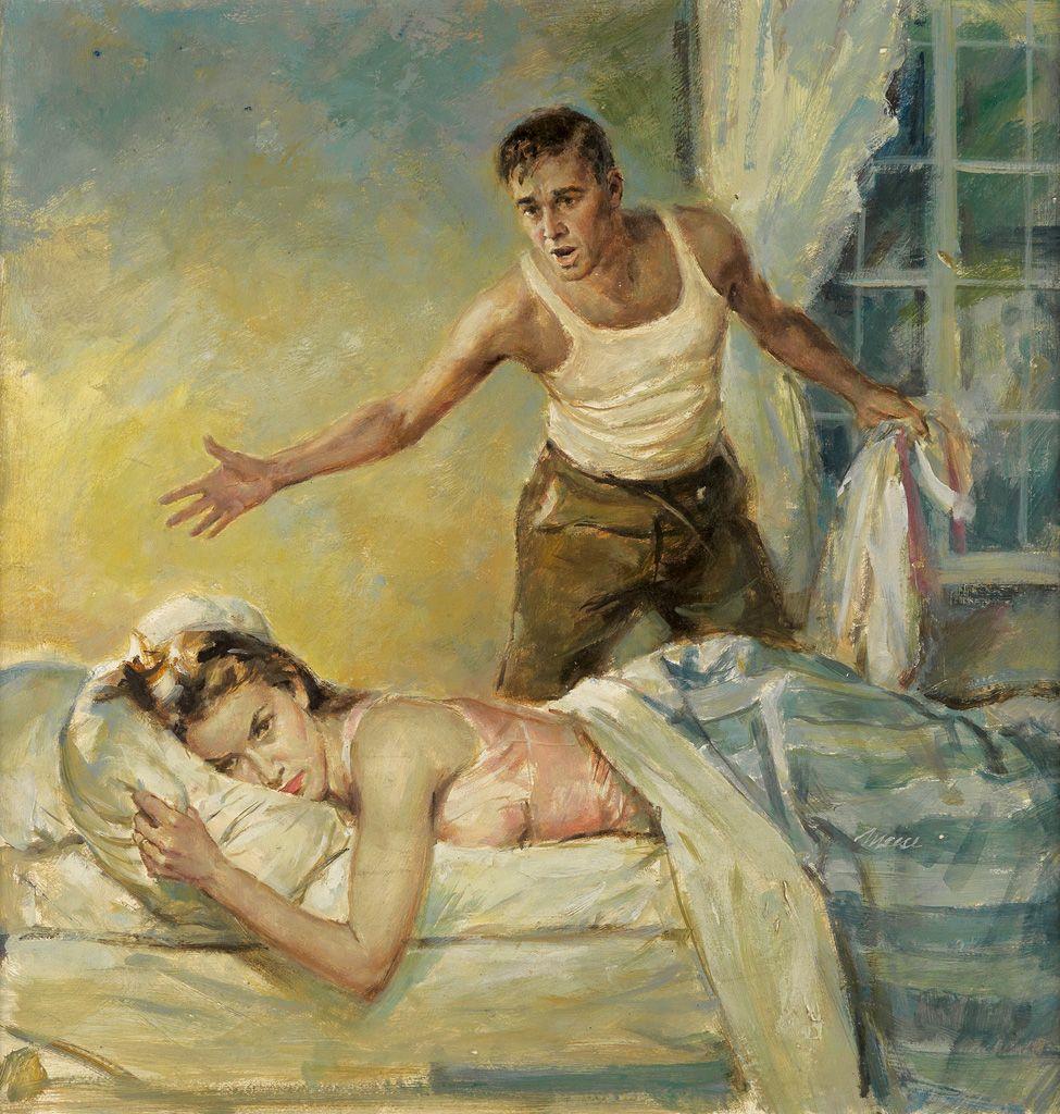 """""""The Dangerous Year (The Sunken Garden),"""" Cover Illustration, 1956"""