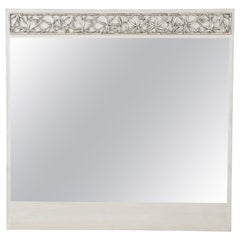 James Mont Cerused Oak, Silvered Bamboo Mirror, 2 of 2
