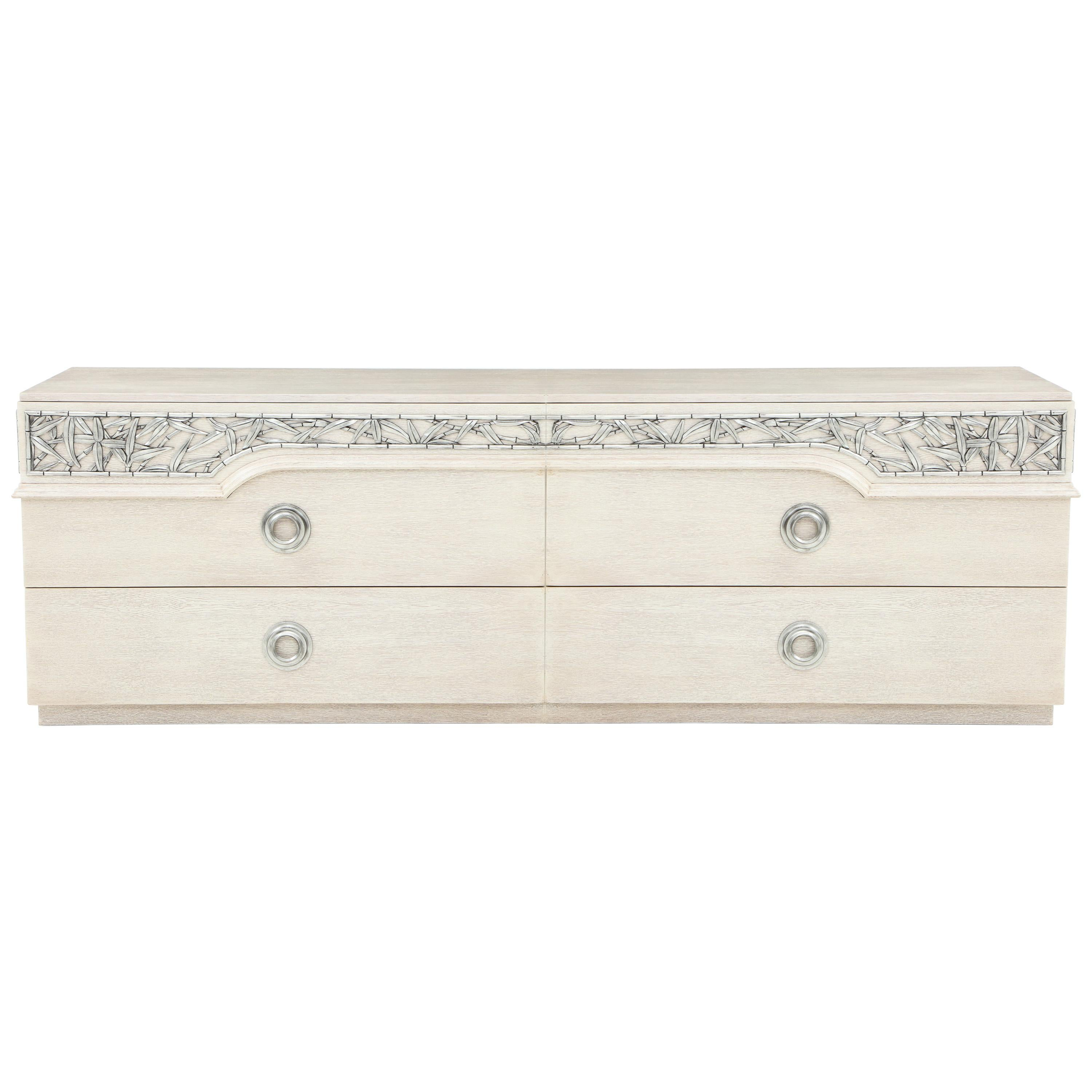 James Mont Chinoiserie Bamboo Dressers