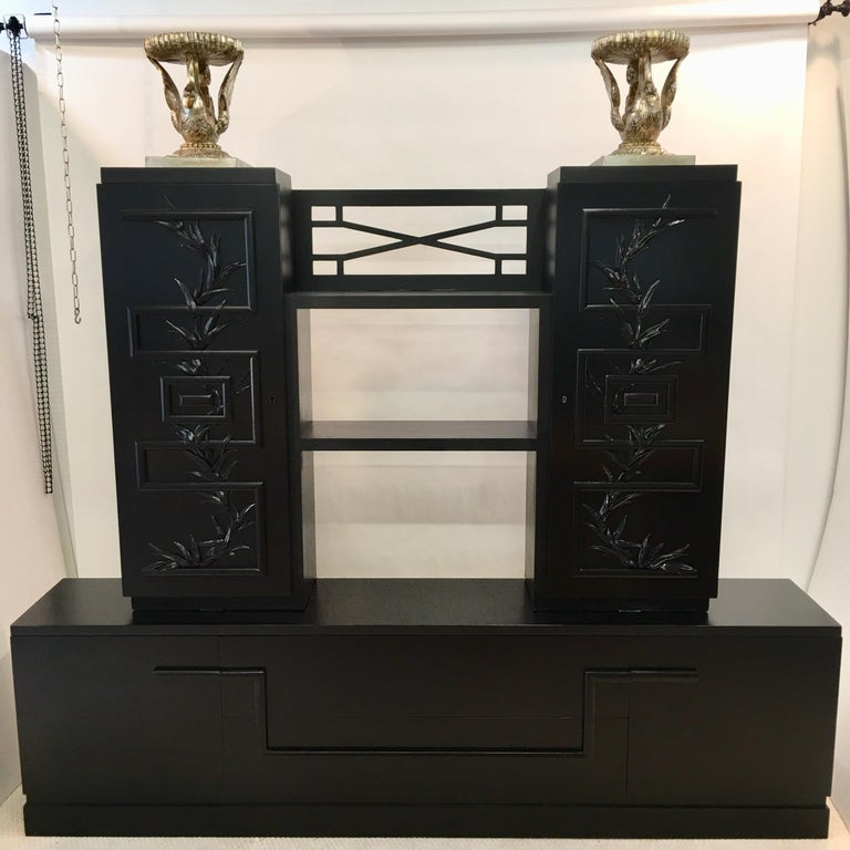 Mid-Century Modern James Mont Console Cabinet For Sale