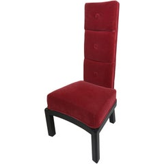 James Mont High Back Chair