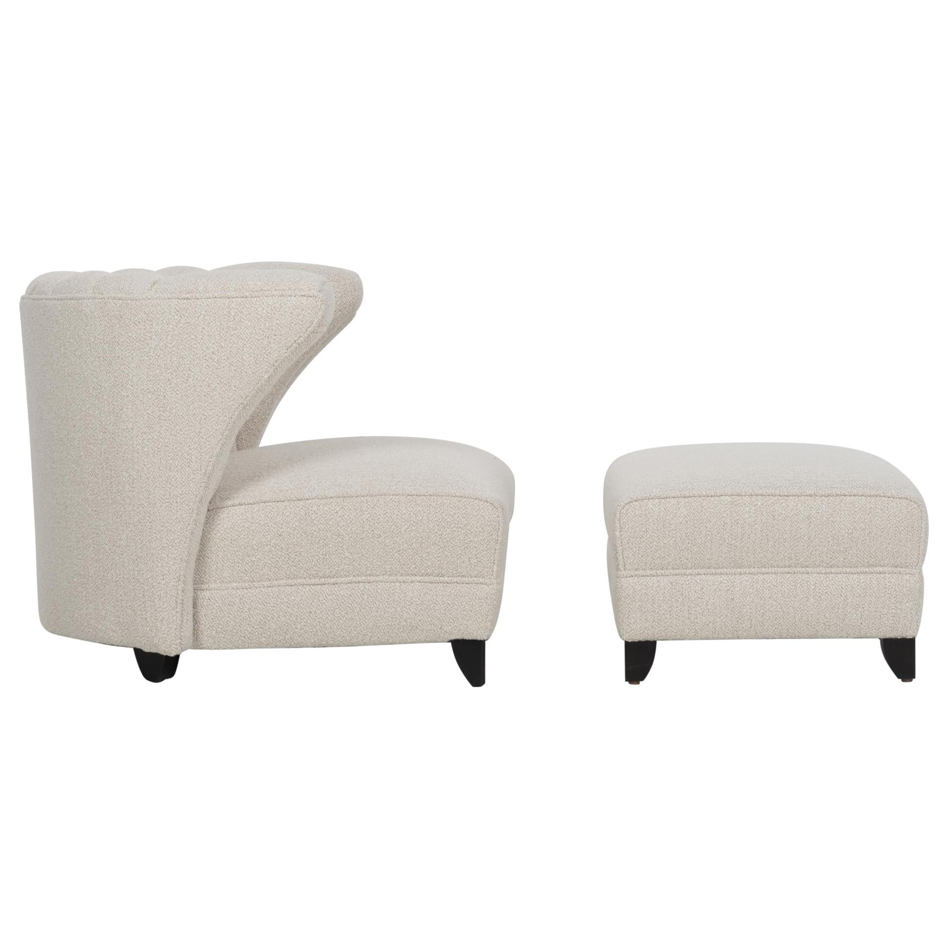 James Mont Lounge Chair and Ottoman