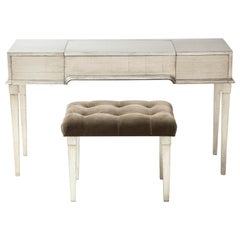 James Mont Silver Leafed Vanity / Desk
