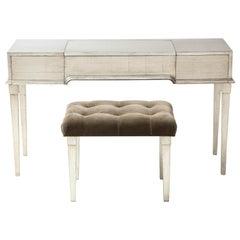 James Mont Silver Leafed Vanity / Desk