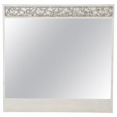 James Mont Cerused Oak, Silvered Bamboo Mirror, 1 of 2