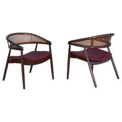 James Mont Style Bent Beech Armchairs
