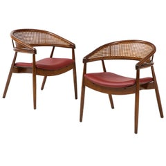 James Mont Style Bent Beech Armchairs