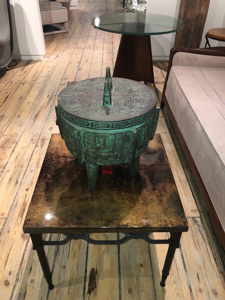 Mid-Century Modern James Mont Style Ice Bucket For Sale
